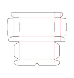 Simple packing box scheme template on white vector