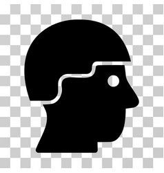 Soldier helmet icon vector