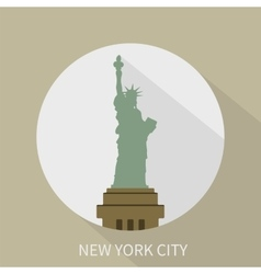 Statue of Liberty in New York icon vector