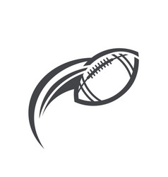 Swoosh american football logo icon vector