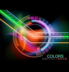 Transparent colorful circular vector