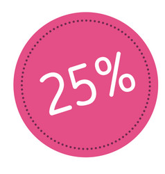 twenty five percent advertising sticker vector image