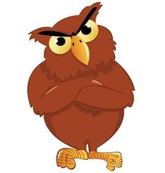 Upset owl vector