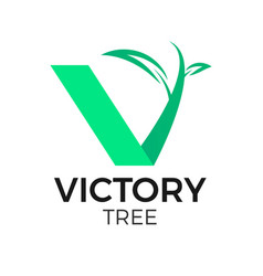 v tree logo vector image