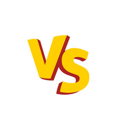 Versus letters or vs logo emblem vector