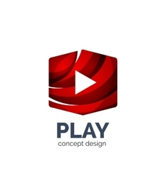 Video play logo template vector