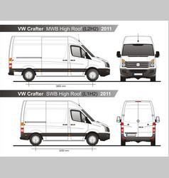 Volkswagen crafter delivery van l2h2l1h2 2011 vector