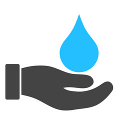 Water offer hand icon vector