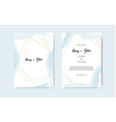 wedding set with beautiful hand drawn watercolor vector image