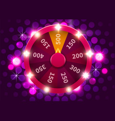 Wheel luck or fortune gamble chance leisure vector