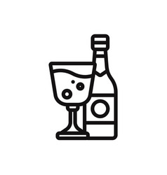 wine icon alcoholdrink symbol vector image