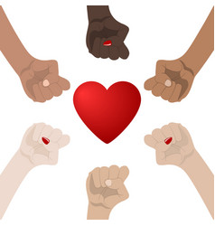 World racial and gender equality unity alliance vector