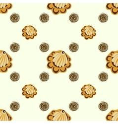 Yellow seashells or flowers seamless pattern vector