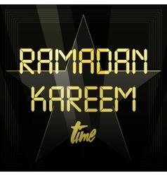 Beautiful Ramadan Kareem text design background vector image