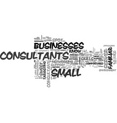 It consultants what do you need to know text vector