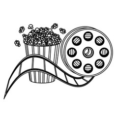 pop corn and film production clipart icon vector image vector image