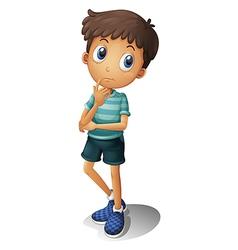 A thinking boy vector image