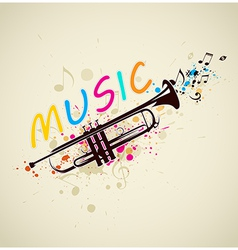abstract background with trumpet vector image