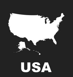 america map icon flat usa sign symbol on black vector image vector image