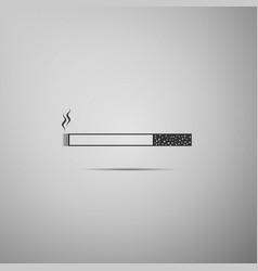 Cigarette icon tobacco sign smoking symbol flat vector