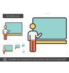 Schoolboy line icon vector image