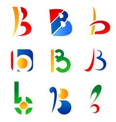 set of alphabet symbols vector image vector image