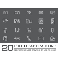 Set of Photo Camera Photography Elements and Video vector image vector image