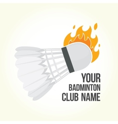 Badminton is on fire vector image