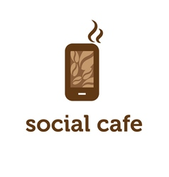 concept of smartphone with coffee bean vector image vector image