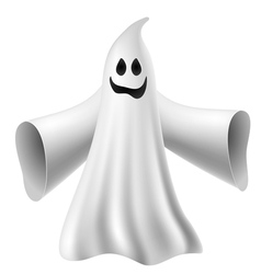 Cute ghost vector image vector image
