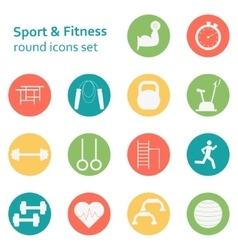 Set of sport icons Sport fitness gym vector image