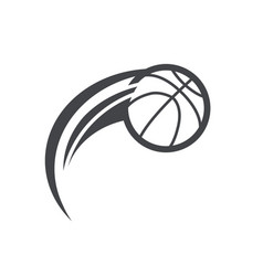 swoosh basktetball logo icon vector image