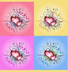 valentine day vintage design element vector image vector image