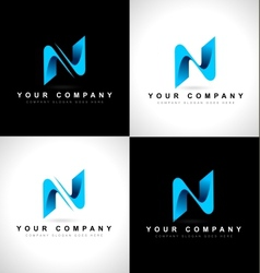 Abstract letter N logo vector image vector image