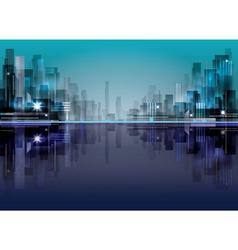 City landscape vector image
