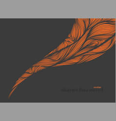 Abstract lines curved scene vector