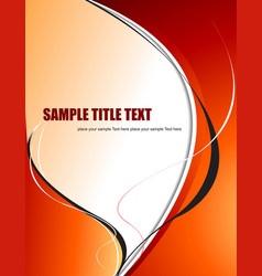 abstract orange yellow wave background vector image
