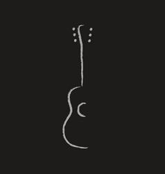 acoustic guitar design vector image