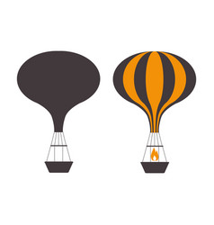 air balloons outline emblems vector image