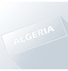 Algeria unique button vector