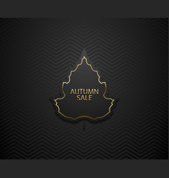autumn sale luxury banner golden text vector image