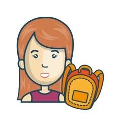 avatar woman cartoon vector image