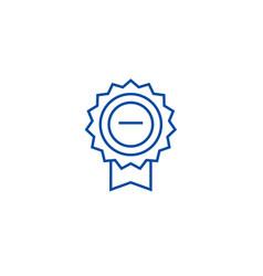 award sign line icon concept award sign flat vector image
