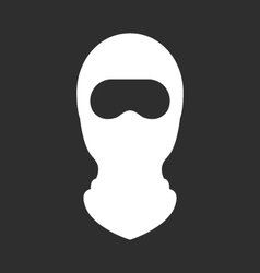 Balaclava or ski mask - face mask terrorists vector