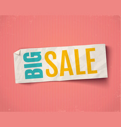 banner for big sale vector image
