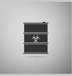biological hazard or biohazard barrel flat icon on vector image