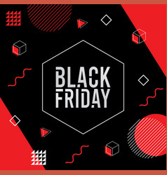 black friday background memphis style vector image