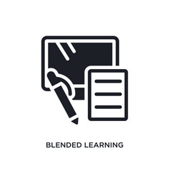Blended learning isolated icon simple element vector