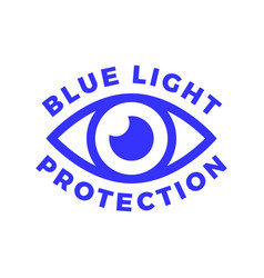 blue light protected eye symbol blue light causes vector image