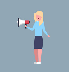 business woman hold megaphone leader businesswoman vector image